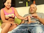 Dickliches Mädchen will Pornostar werden